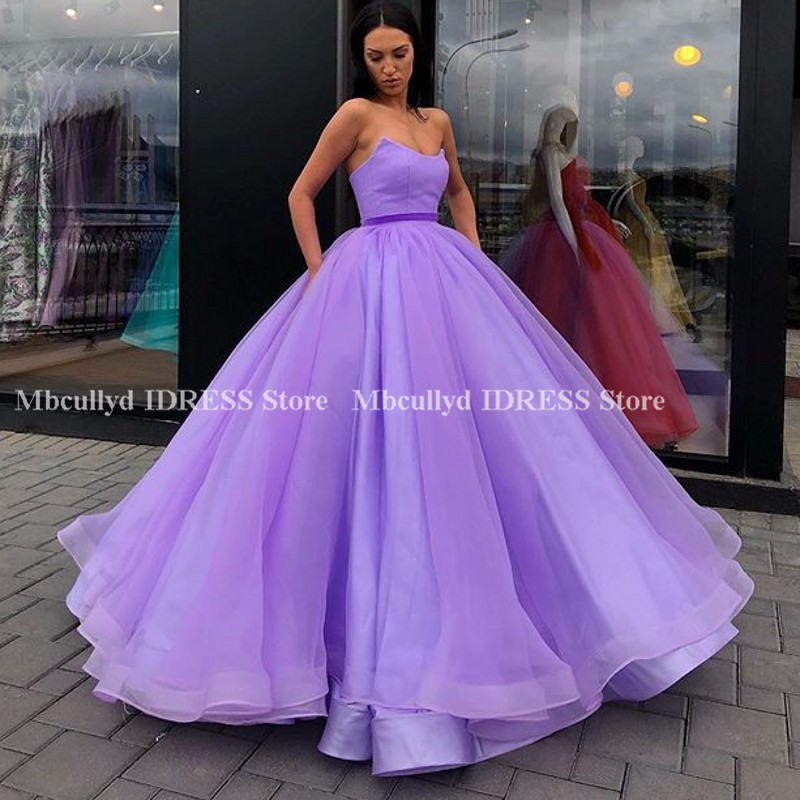 Elegant Sweetheart Ball Gown   Evening     Dresses   Corset Lace Up Back Organza Sleeveless Pageant Party Gowns Pink Vestidos de fiesta