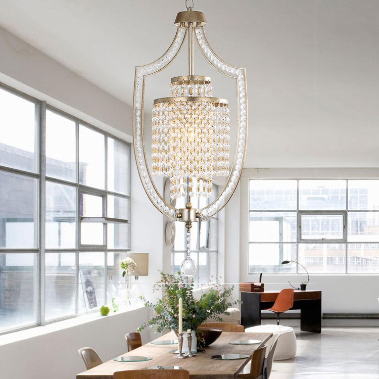 country dining room lighting | Nordic Light Pendant Lights Crystal Fixtures Entrance Hall ...