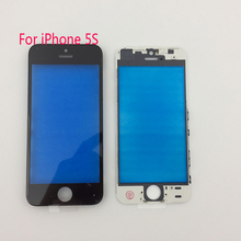 10pcs AAA Quality Touch Panel Outer Glass with frame for iPhone 5 5G 5S LCD Touch Screen Replacement Front Glass Lens With Bezel