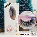 New 1 pair  3D mink eyelash wholesale Lilly 100% real mink fur Handmade crossing lashes 3D-11 individual strip thick lash