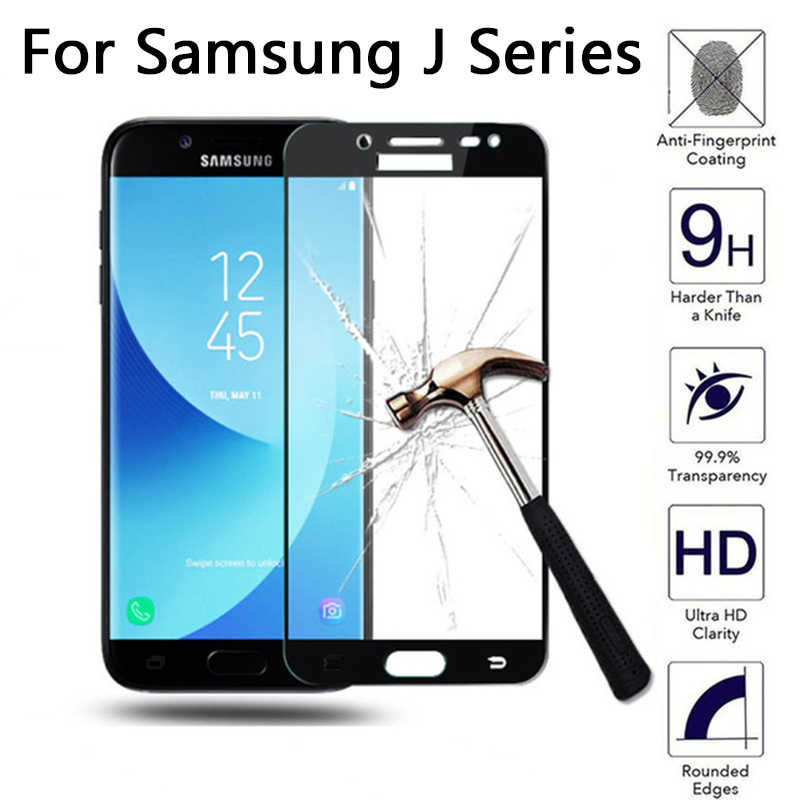 Full Cover Tempered Glass For samsung j5 2017 Screen Protector For Samsung Galaxy J 2 3 5 6 7 Pro Prime 2015 2016 2017 2018 Film