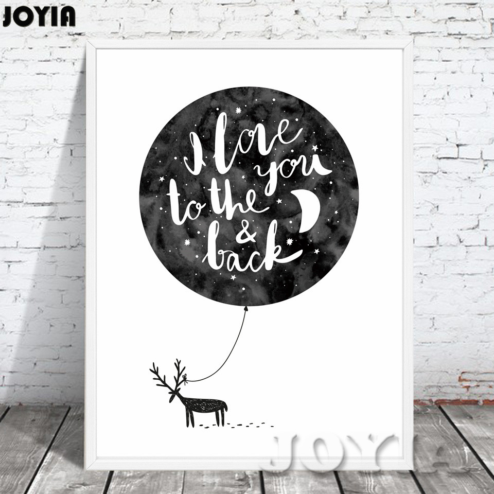 nordic baby bear cactus wall art canvas poster print minimalist black white paintings for living room wall bedroom office decorin painting u0026 calligraphy