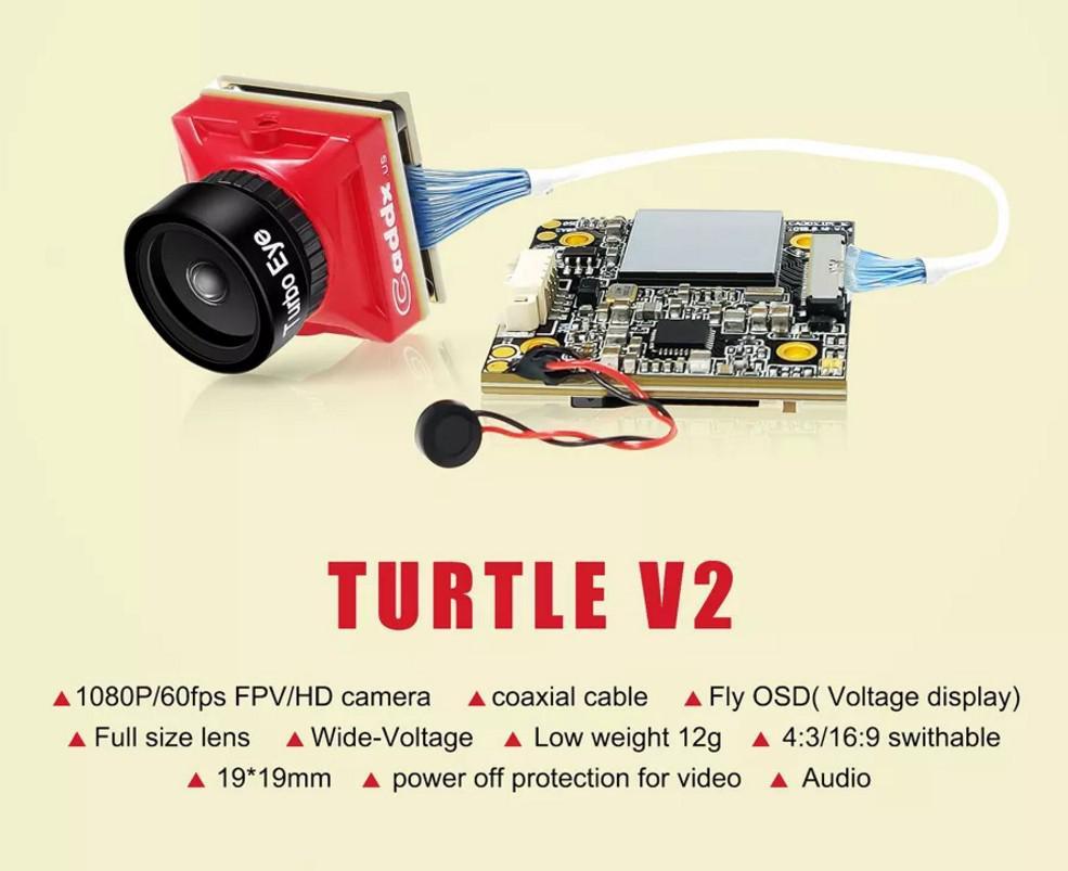 Image 2 - LeadingStar Caddx żółw V2 1080p 60fps FOV 155 stopni Super WDR Mini HD FPV OSD kamery Mic dla RC droneCzęści i akcesoria   -