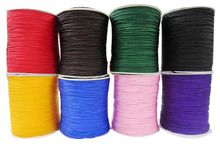 U Pick ! 1mm Rattail Braid Nylon Cord+Jewelry Accessories Thread Macrame Rope Bracelet Beading String Cords 350m/Roll