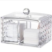 Cosmetic Nail Remove Cotton Unloading Towel Storage Box Cotton Swab Transparent Acrylic Household Desktop Storage Holder