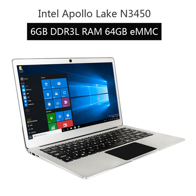 "New Version Jumper EZbook 3 Pro Dual Band AC Wifi laptop with M.2 SATA SSD Slot Apollo Lake N3450 13.3"" IPS 6GB 64GB ultrabook 2"