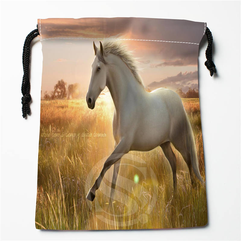 T-250 New Animals Horse &b Custom Logo Printed  Receive Bag  Bag Compression Type Drawstring Bags Size 18X22cm Y801Y250ij