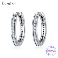 Beagloer 925 Sterling Silver Eternity Clip Earrings For Women Ear Cuff Brincos With European Fashion Jewelry