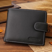 Leather Men Wallets Solid Sample Style Zipper Purse Man Card