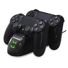 플레이 스테이션 4/ps4 컨트롤러 용 듀얼 충전 도킹 충전기 스테이션 컨트롤러
