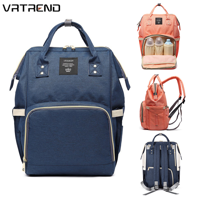 VRTREND Designer Fashion Mummy Maternity Nappy Bag Large Capacity Baby Diaper Bag Travel Backpack Nursing Bag For Baby Care