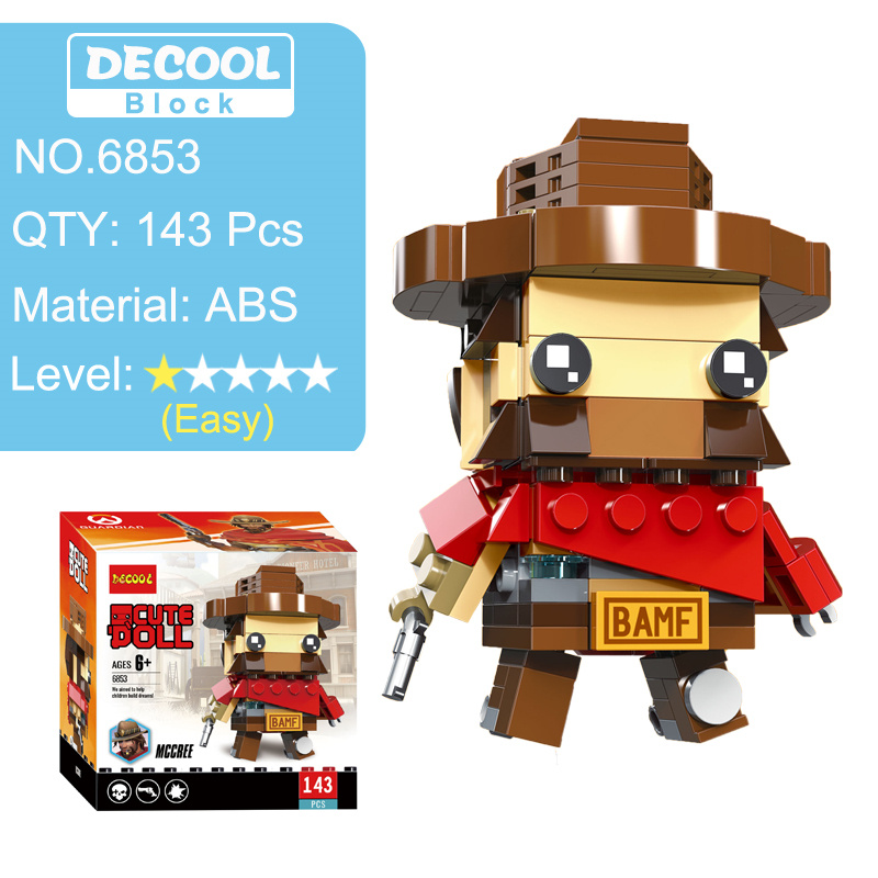 Overwatching Tracer Hanzo Mccree Dva Toys Action Figure Blocks Figures Game Character Figurines  Toy Gift For Boy Men 1