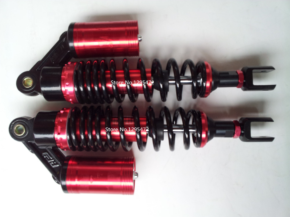 new 320mm   7mm spring  motorcycle fork   shock absorber  assy  for   motorbike  DIRT BIKE  ATV QUAD  red+black color 320mm motorcycle fork rear nitrogen shock absorber for bws100 bws125 rd250 350 pit atv scooter motorbike colorful