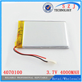 3.7 V 3500 MAH 4070100 Batería de polímero de Litio con la junta de protección Para MID de 7 pulgadas Tablet PC Envío Gratis