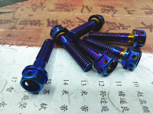 6pcs/lot 304 stainless steel Motorcycle screws M8*20/35/40/45/50/55mm screw Motorcycle accessories M8 Motorcycle bolts blue color t6063 aluminum alloy 304 stainless steel screws motorcycle side stand motorcycle scooter street standard