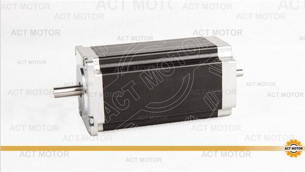 ACT Motor 1PC Nema23 Stepper Motor 23HS2430B Dual Shaft 4-Lead 425oz-in 112mm 3.0A Bipolar 8mm-Diameter CE ISO ROHS