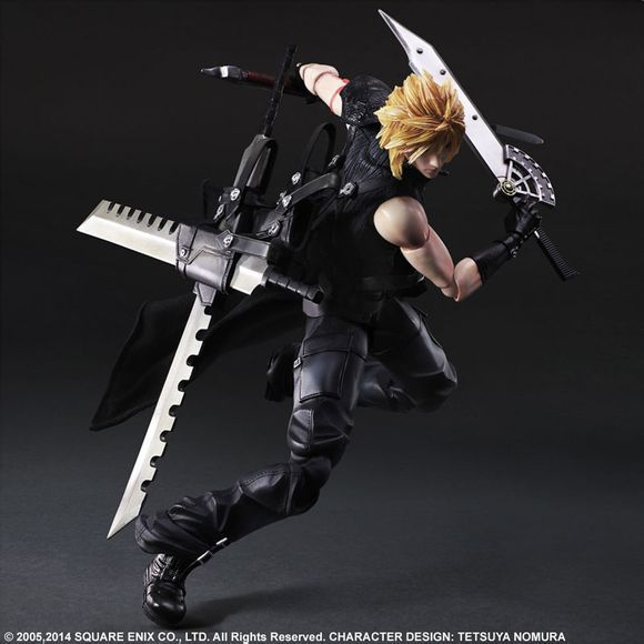 SAINTGI Final Fantasy7 PA Claude Knight Play Arts Kai Cloud Strife Collection Model Aptain PVC 28cm Figures Cloud Strife Doll xv vii ff15 sephiroth ffxv final fantasy pa claude knight argentum play arts kai cloud strife collection model pvc 25cm figures