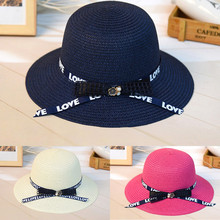 Solid Wide Brim Floppy Straw Sun Hat Beach Women Hat Summer UV Protect Travel Cap Ladies Casual Cap Vacation Female Y703 solid color wide brim sun straw hats women bowknot beach cap summer ladies anti uv sunscreen floppy hat casual travel fold caps
