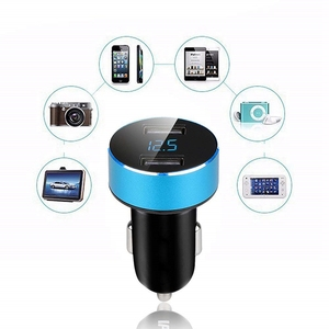 Image 5 - Rovtop 3.1A 5V Dual USB Car Charger With LED Display Universal Phone Car Charger for Xiaomi Samsung S8 iPhone X 8 Plus Tablet