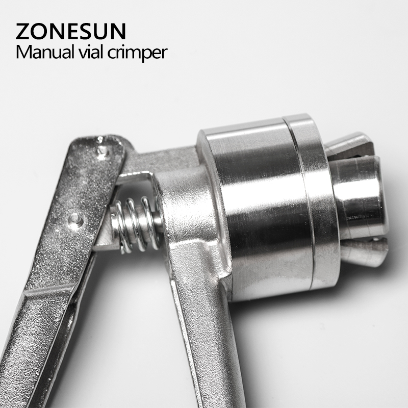ZONESUN fiolka Crimper 32mm szklana maszyna zamykająca butelki ręczne karbownice ze stali nierdzewnej, ręczne narzędzie do uszczelniania