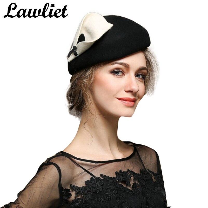 Detalle Comentarios Preguntas sobre Gorros de boina de mujer sombreros de  mujer estilo Vintage sombreros de lana pastillero sombrero de cóctel  Cheltenham ... 33192f24640a