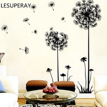 Creative 68*30cm Dandelion Wall Art Decal Sticker Removable Mural PVC Home Decor 100% brand new free shipping
