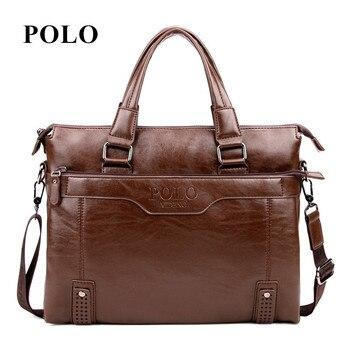 Новый бренд поло мужские кожаные сумки старинные crossbody сумка мужская сумка почтальона портфель мужской Сумки