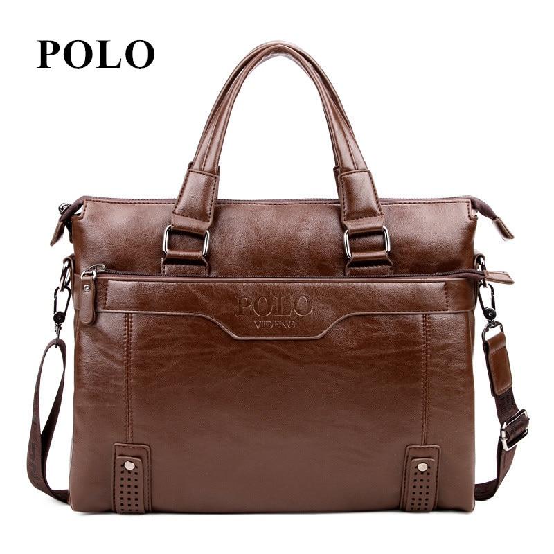 New Brand Polo Men S Leather Messenger Bags Vintage Crossbody Bag Shoulder Postman Briefcase Male Handbags
