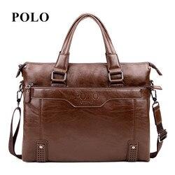 New Brand POLO men's leather messenger bags vintage crossbody bag men shoulder bag postman briefcase male Handbags