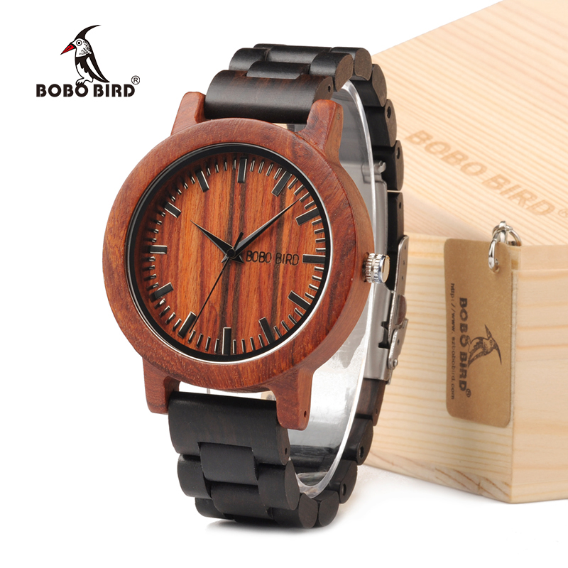 BOBO BIRD M05 Natural Rose Sandal Wooden Quartz Analog Watch For Men Luxury Brand Lightweight For Environmental in Gift Box alecia spooner m environmental science for dummies