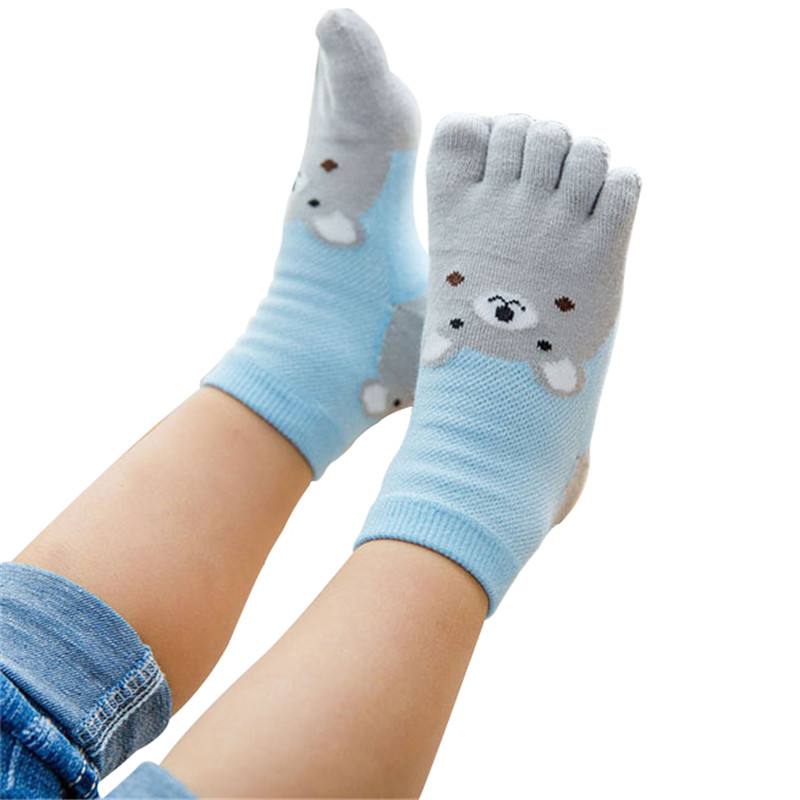 New Design Cute Cartoon Bear Five Toes Socks Kids Socks Girl Boy Children Hosiery Five Fingers Socks Mesh Breathable Foot SocksNew Design Cute Cartoon Bear Five Toes Socks Kids Socks Girl Boy Children Hosiery Five Fingers Socks Mesh Breathable Foot Socks