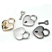 Heart Shape Vintage Old Antique Style Mini Archaize Padlocks Key Lock With key decorative gift