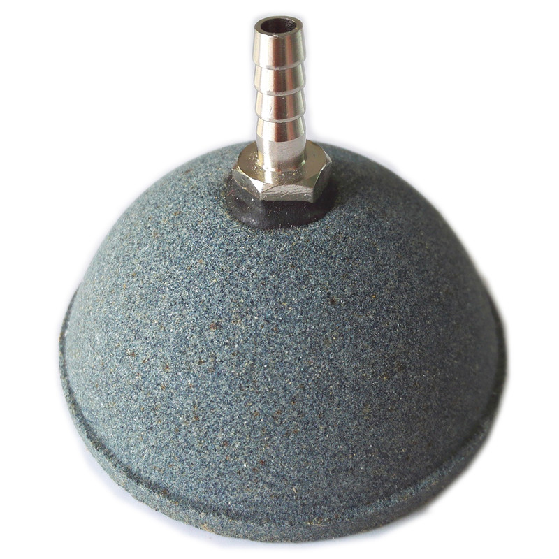 1pcs 6cm Dia Semicircle Dark Gray Mineral Bubbles Air Stone For Aquarium Fish Tank Great