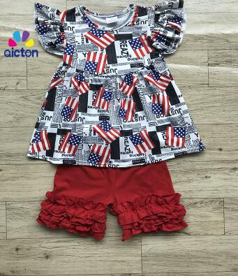 117185618 2017 New arrived 4th of July girls outfits wholesale kids clothes for  national day childrens boutique clothing set summer