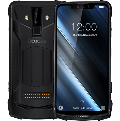 2019 nouveau DOOGEE S90 6 GB 128 GB téléphone portable IP69K Étanche PTT SOS 5050 mAh 6.18 ''FHD MT6671 Octa- core 16MP NFC 4G Smartphone