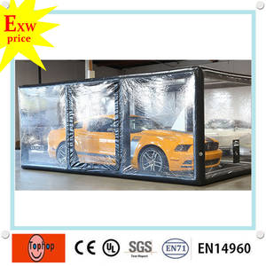 made in china pvc tarpaulin retractable inflatable car body capsule cover for sale