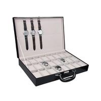 High Range Fashion 24 Slots CROCO Black Jewelry Box Casket Storage Box For Jewelry Exquisite watch Jewelry DIsplay Organizer