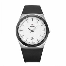 купить Fashion Casual Men's Watch Business Minimalist Sports PU Watches Calendar Quartz Wristwatches Free Shipping Sale дешево