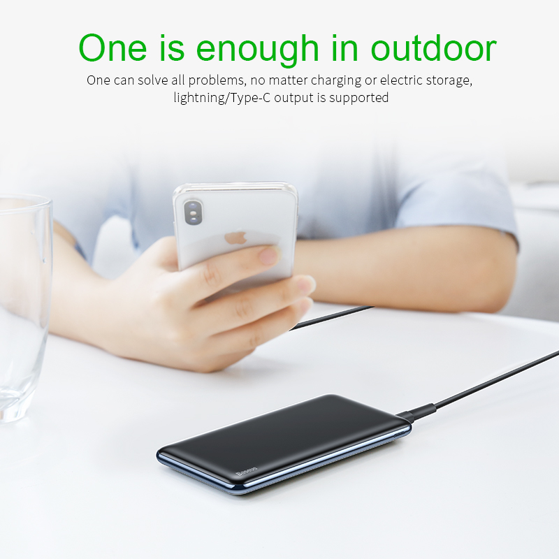 Power bank for iPhone - 10000 mah power bank fast charging 3.0 with USB PD two-way charging 6