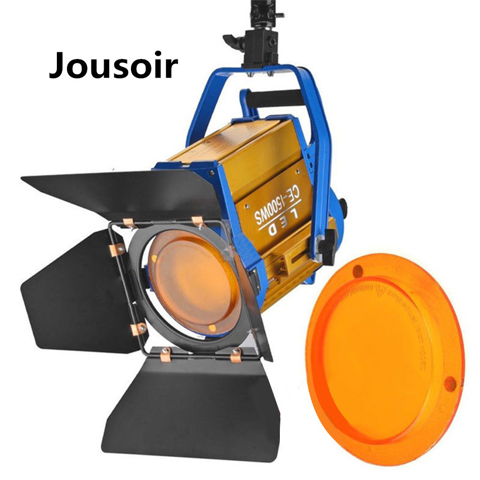 ALUMOTECH-Wireless-Remote-Bi-color-150W-LED-Fresnel-Spotlight-For-Video-Studio-Cemera-Lighting