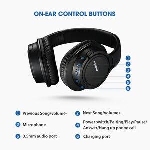 Image 5 - Лидер продаж, Bluetooth наушники Mpow H7, Беспроводные стереонаушники с микрофоном и временем воспроизведения 13 часов для iOS/Andriod/настольного ПК/телевизора