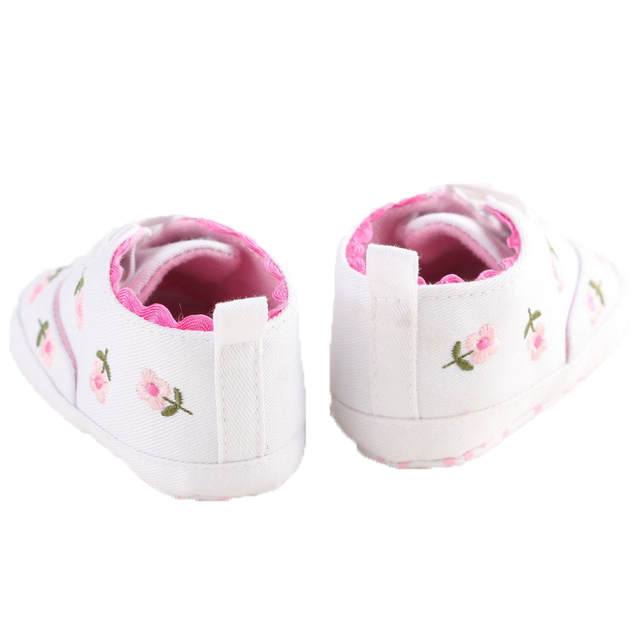 0-18 Months First Walkers Toddler Kid Baby Girl Floral Embroidered Soft Shoes For Newborn Walking Shoes  2