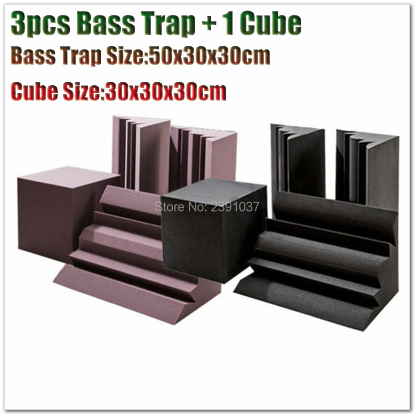 High Quality 1 Set Basstrap Acoustic Wavy Wedge Foam Professioanl Soundproof Corner Kit acoustic panel acoustic foam