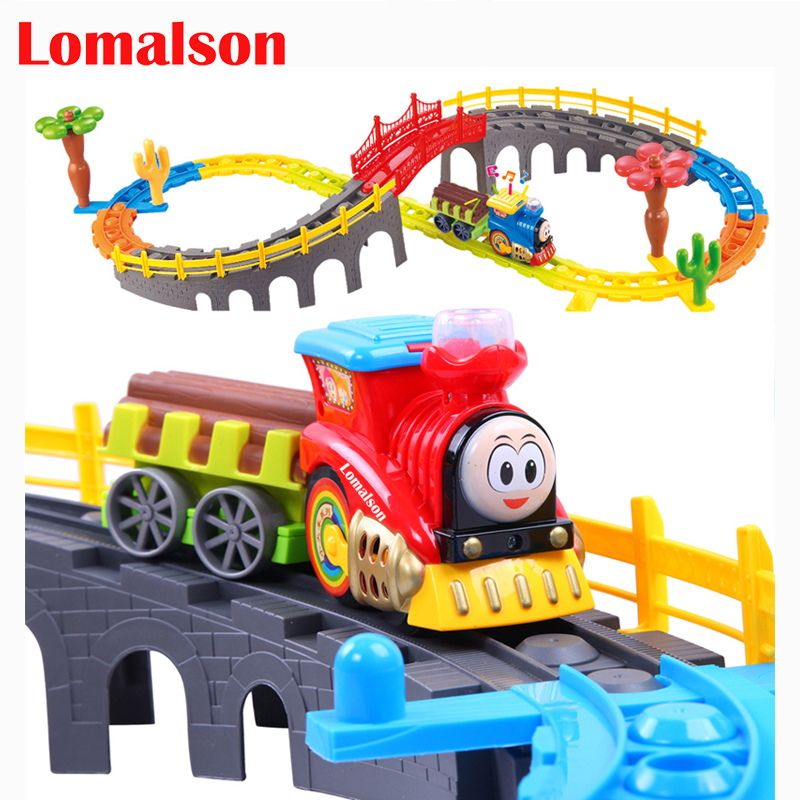 Kids toy electric train toy set boy's model toys children's train with tracks toy free shipping