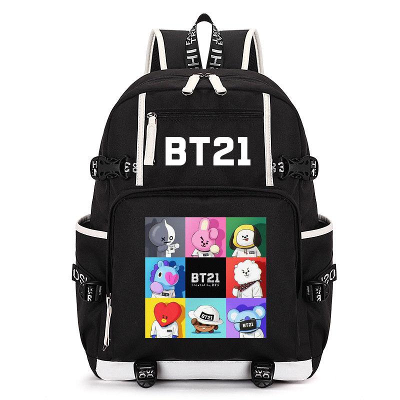KPOP BTS Backpack Shooky Chimmy Koya Bangtan Boys Bookbag Shoulder Bag Suga Travelling Bag New Arrival Fans Collection Z7121509 bangtan boys the best of bts japan edition release date 2017 01 06
