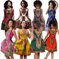 Африканские Платья Африканская Одежда Хлопок Традиционные Платья Халат Africaine Новая Мода Многоцветный Тотем Национальной Ветра Платье