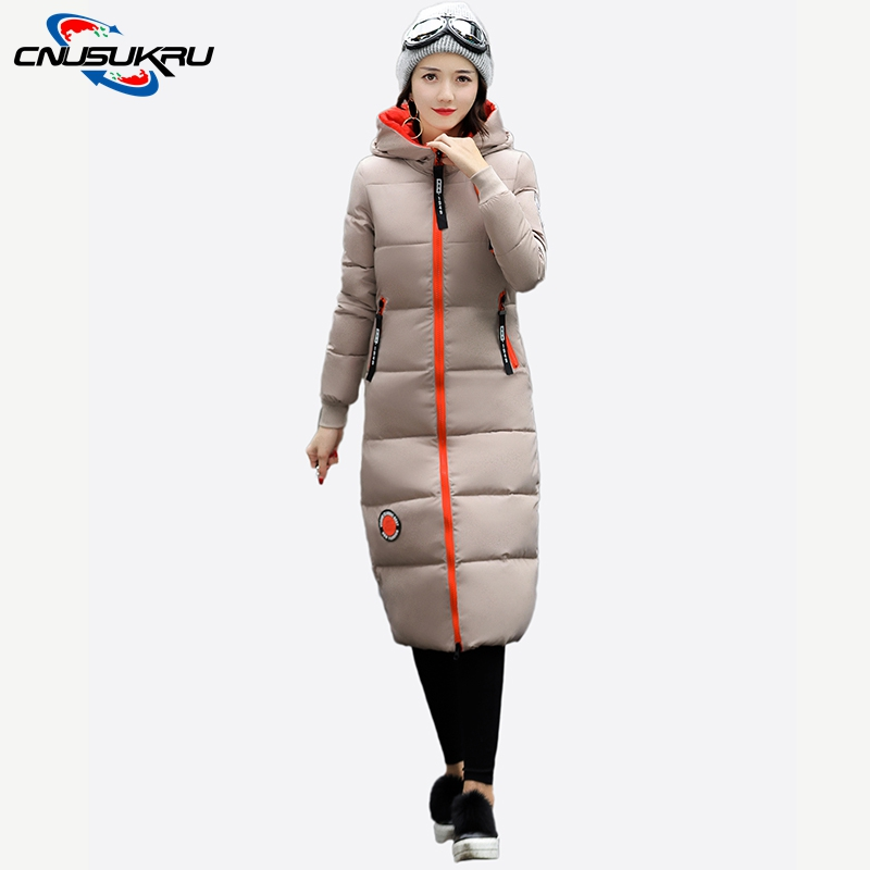 2017 New Arrivals slim casual long coat warm thicken cotton Autumn and winter basic jacket hooded outwear for womens overcoat warm thicken baby rompers long sleeve organic cotton autumn