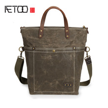 Aetoo масла Воск Водонепроницаемый парусиновая сумка Отдых многофункциональный сумка Для мужчин и Для женщин Универсальный