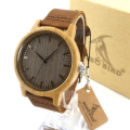 BOBO BIRD A18 Luxury Brand Wood Watches Men Casual Leather Women Bamboo Wristwatch Relogio Masculino Hombre 2016