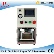 LY 9100 7 inch desktop 3 in 1 multi-functions Layer OCA laminating machine (OCA Glue,TP,LCD) free 2 mobile moulds with machine